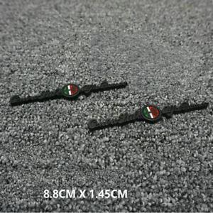 2pc 3D Black Centro Stile Letter Car Fender Emblems Badge Sticker Fit Alfa Romeo