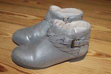 H&M Mädchen Stiefeletten Gr. 33 Schuhe gold metallic