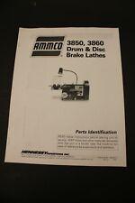 Ammco 3850 Amp 3860 Brake Lathe Parts Manual Guide