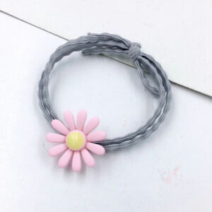 1PC Pink Daisy Flower Fashion Elastic Hair Ring Rubber Bands Ponytail Hair Rope