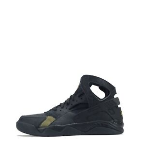 Nike Air Flight Huarache Premium QS Men's Trainers Shoes Black/ Metallic Gold