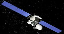 Measat 3 Boeing Communication Satellite Handcrafted Wood Model Regular New