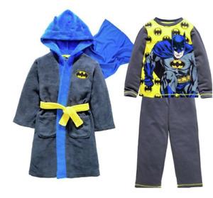 DC COMICS BATMAN: PYJAMA/DRESSING GOWN,7/8YR,NEW WITH TAGS