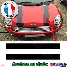 2 Bandes Capot pour Mini Cooper - Autocollants Stickers - 170