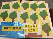 Apple Counting - Learning Center- Math Counting 0–10- Laminated Mats