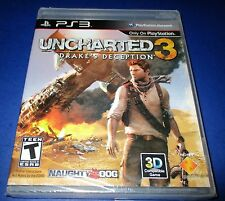Uncharted 3: Drake's Deception Sony Playstation 3 *Factory Sealed! *Free Ship!