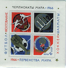 RUSIA/URSS  RUSSIA/USSR 1966 MNH SC.3232 YT.42 Chess,fencing,soccer,ice hockey