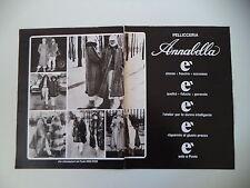 advertising Pubblicità 1978 PELLICCE PELLICCERIA ANNABELLA - PAVIA