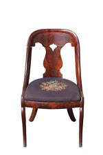 1820's Saber Leg Mahogany Needlepoint Chair