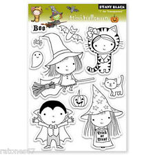 New Penny Black MIMI HALLOWEEN Clear Stamps Girl Witch Boy Cat Pumpkin Bat