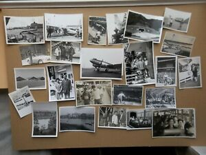 JOB LOT 40 OLD PHOTO PEOPLE TRANSPORT TRAIN CAR PLANE  ASIA JAPAN JAPANESE CB60