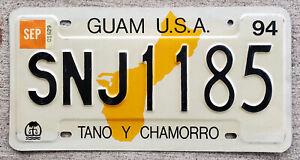 1994 Guam License Plate SNJ = Sinajana Village