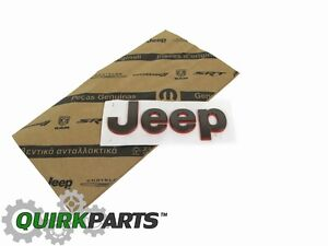 16-17 JEEP RENEGADE 75TH ANNIVERSARY HOOD EMBLEM NAMEPLATE BADGE MOPAR GENUINE