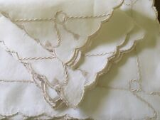 Vintage Placemats Embroidered Rope Tassel Madeira Set Of 6