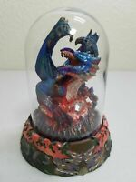Franklin Mint Collectible Figure w/Glass Cover -Michael Whelan - Dragon Inferno