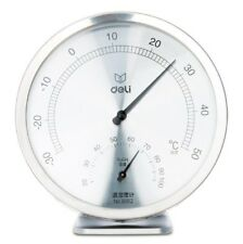 Deli 8812 Stainless Steel Temperature And Humidity Hygrometer Gauge