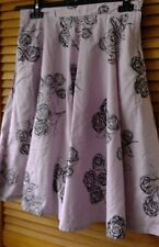 Women's special Occasion lilac & black roses floral netted skirt H&M  size 8