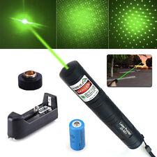 532nm 10Miles Green Laser Pointer 1mw Lazer Pen Beam Light + Battery*Charger USA