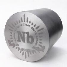 1Kg Fine Turning Niobium Metal Cylinder 54×54mm 99.95% Engraved Periodic Table