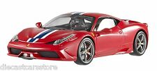 HOT WHEELS ELITE FERRARI 458 SPECIALE RED 1/18 DIECAST CAR BLY31