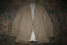 RECENT Hart Schaffner Marx Brown Gun Club Check Wool Sport Coat 46 L