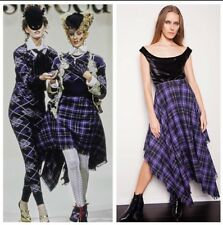 runway vintage 1994 VIVIENNE WESTWOOD On Liberty gold label plaid tartan skirt