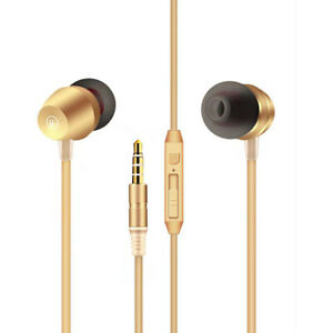 High Quality Sound  Universal In-ear Earphones In Gold