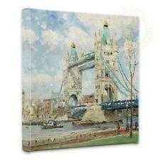 Thomas Kinkade Tower Bridge London 14 x 14 Gallery Wrapped Canvas