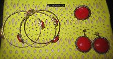 3 PC CAM & ZOOEY JEWELRY SET - RING EARRINGS BRACELET