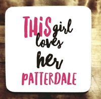 PATTERDALE TERRIER gift idea Coaster Present FOR DOG LOVER
