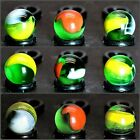 """7 Green Parrot Marble by Mega / Vacor 0.63"""" Free Domestic Shipping"""