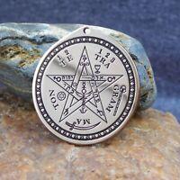 Tetragrammaton ( First symbol) Pendant. Pentagram talisman, jewelry, brass