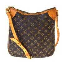 Auth LOUIS VUITTON Odeon MM Shoulder Bag Monogram Leather Brown M56389 39BS041
