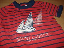 POLO Ralph Lauren Gr: 9 M 74 TOP w. NEU Strampler Spieler gestreift Body Overall