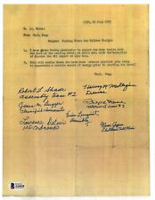 Atomic Bomb Assembly Multi Signed Document BAS A14628 x7 Atomic Bomb 7/29/45