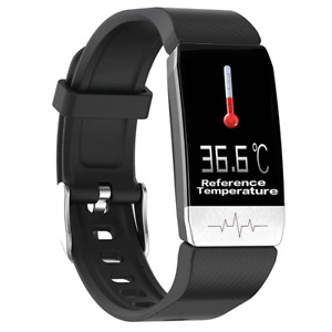 Thermometer ECG Monitor Heart Rate Blood Pressure SpO2 Monitor GPS Smart Watch