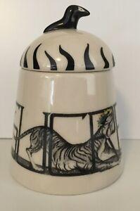 anthropologie florence balducci baloo animal alphabet sugar sucre bowl tiger