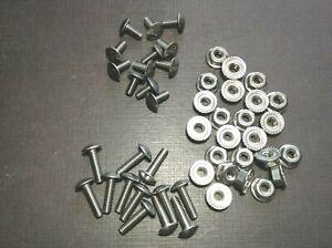 12 pcs 8-32 x 3/8 & 12 pcs 8-32 x 5/8 stainless grille rivet screws & nuts GM