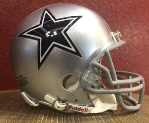 NFL Throwback Dallas Cowboys Riddell Mini  Football Helmet & Facemask