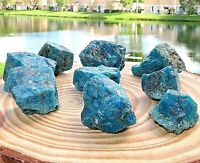 1/2LB Natural Rough Blue Apatite Gemstone Crystal Quartz Specimen Reiki