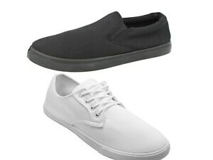 Mens Boys Girls Slip On/Lace up Pumps Plimsolls Beach Holiday Gym Sports Shoes