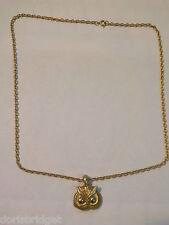 "Vintage 24"" Gold Tone Owl Necklace"