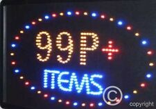 QUALITY  FLASHING  99p items led new window shop signs