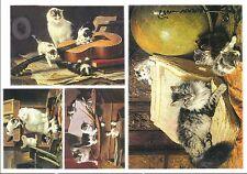 Papier de riz DFS137 Chats de maitre Rice Decoupage Paper Cats Serviette