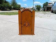 Small Oak Hanging Corner Cabinet with key circa 1900