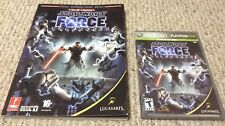STAR WARS: The Force Unleashed Xbox 360 game COMPLETE w/ Strategy Guide