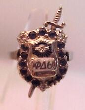 Paladium/ 10K Phi Delta Theta Gold Pin Ring Combination, 6.7g