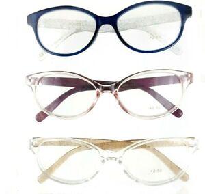 Judith Ripka +2.50 Legacy 3 Pack Designer Reading Glasses Multi-Color Readers