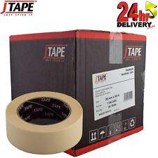 J Tape Premium Crepe Masking Tape Strong Adhesion 38mm x 50m 24 Rolls Per Box