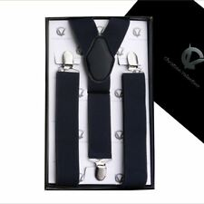 Men's Black Y3.5cm Braces Suspenders